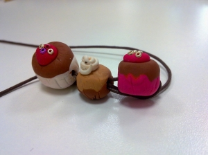 cupcake fimo necklace